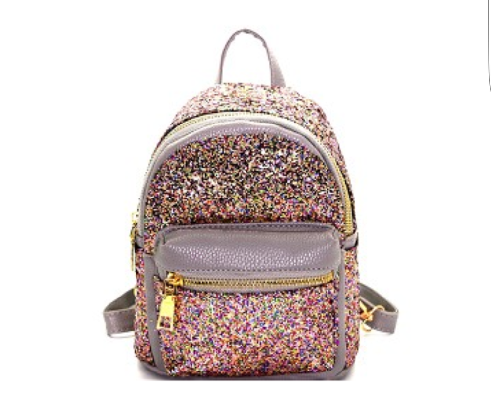 Image of Pink Glittery Mini Backpack
