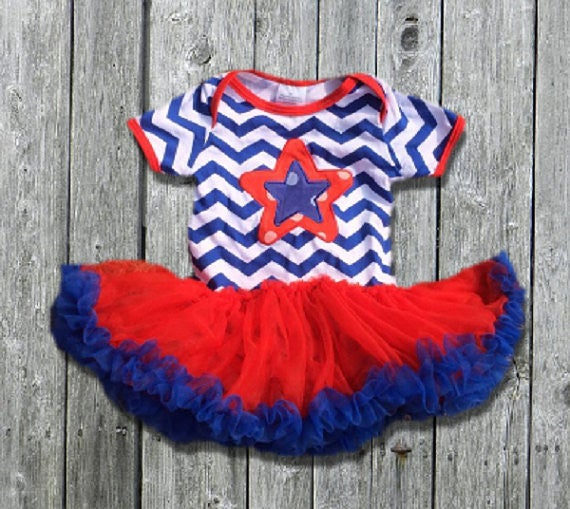 Image of Fourth of July Tutu onesie, baby, toddler, holiday, summer, patriotic