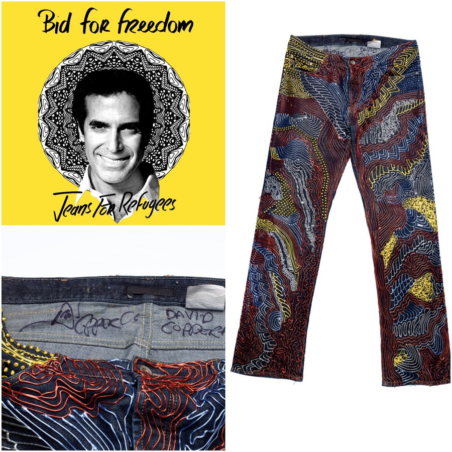 Image of David Copperfield's Jeans for Refugees