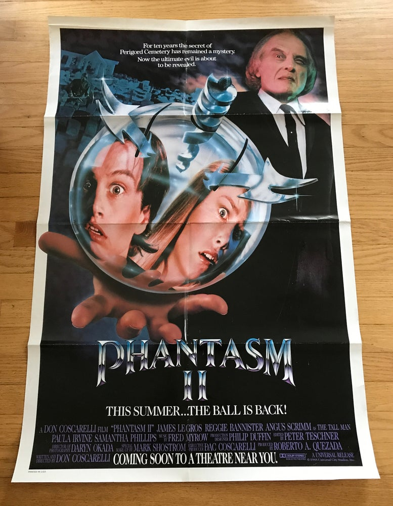 Image of 1988 PHANTASM II Original U.S. One Sheet Movie Poster