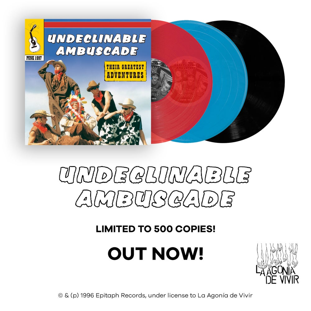 """Image of LADV88 - UNDECLINABLE AMBUSCADE """"their greatest adventures"""" LP REISSUE"""