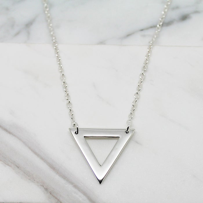 Image of Triangle sterling silver necklace