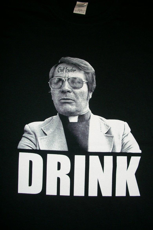 Image of CULT LEADER JIM JONES DRINK T SHIRT