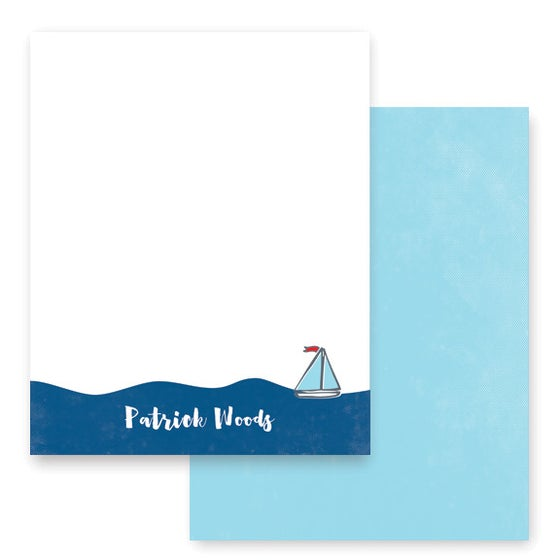 Image of Little Boat Stationery + Envelopes