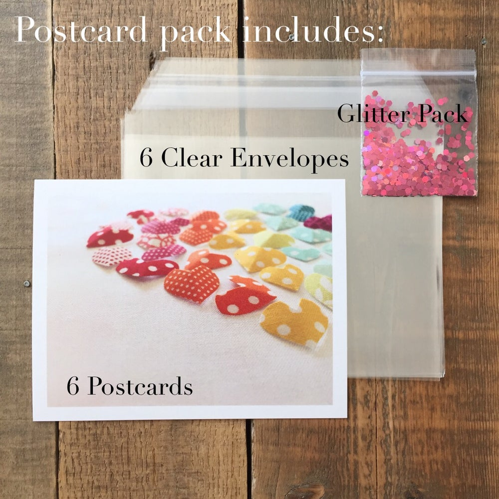 Image of Polkadot Rainbow Postcard Six Pack