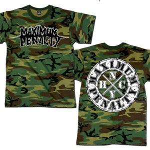 "Image of MAXIMUM PENALTY ""Logo NYHC"" Camo T-Shirt"