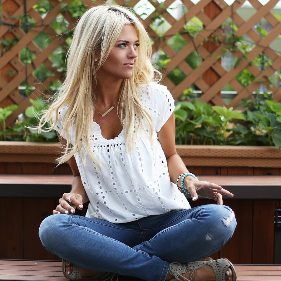 Image of Balboa Lace Top in White