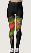 Image of Rainbow Trout Leggings Design Two