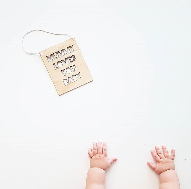 Image of MUMMY/DADDY LOVES YOU BABY BANNER