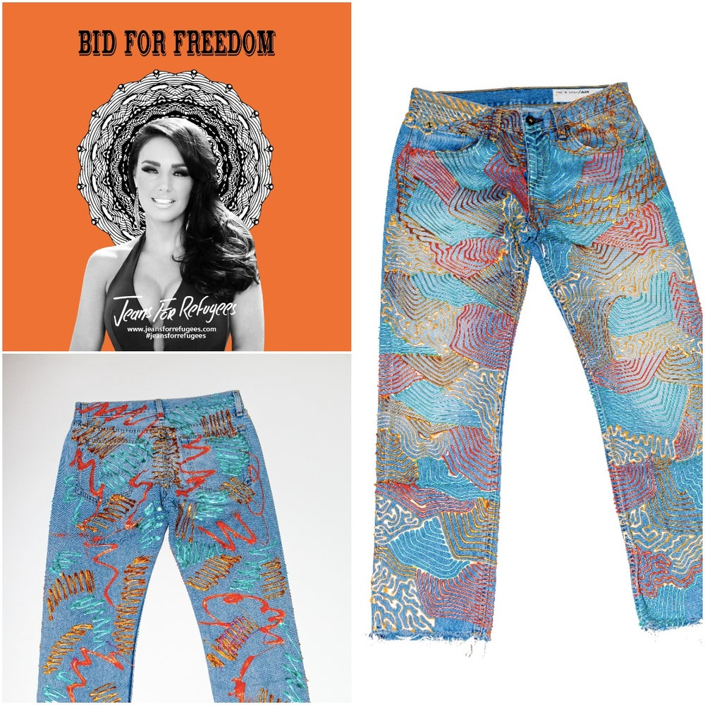Image of Tamara Ecclestone's Jeans for Refugees