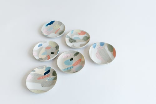 Image of Bright Rainbow Jewelry Dishes