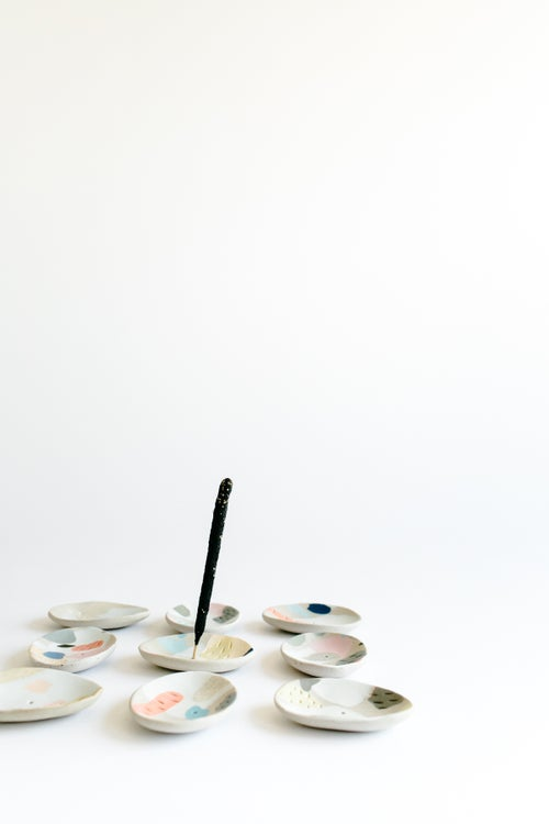 Image of Rainbow Inlay Incense Holders