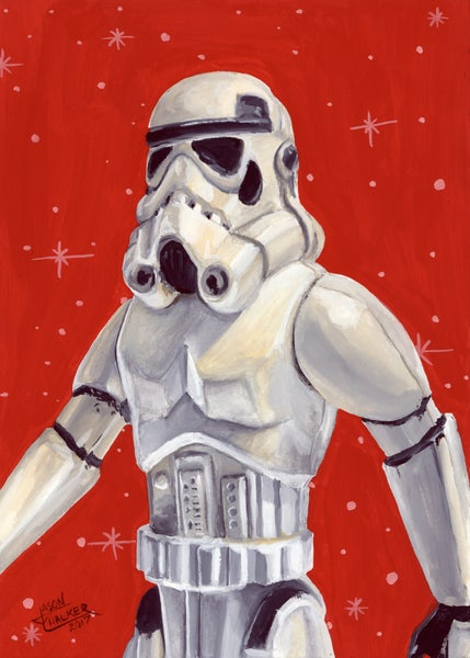 Image of Stormtrooper - Original Painting by Jason Chalker