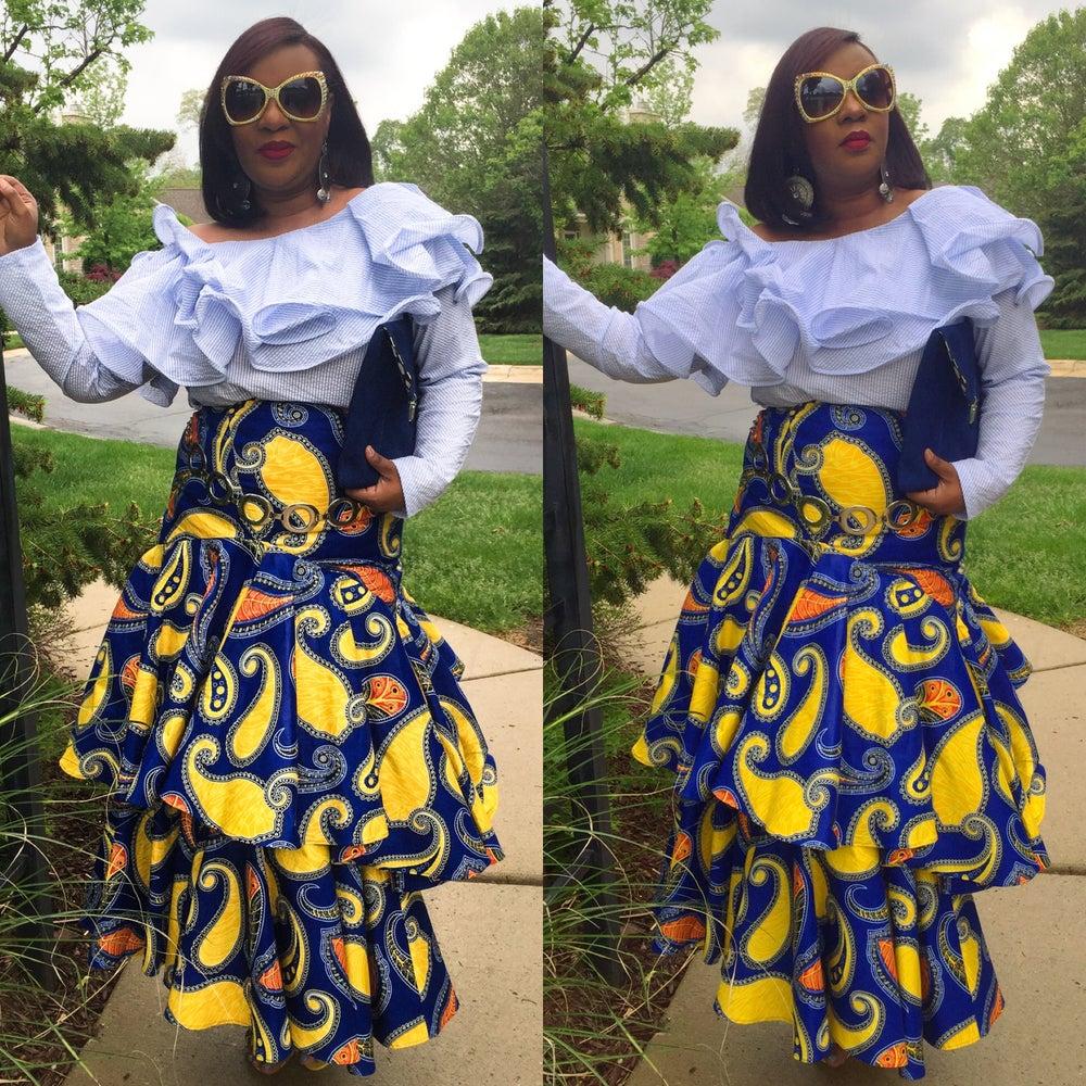 Image of Flamingo 2 Skirt $89 Seersucker ruffle Blouse $69