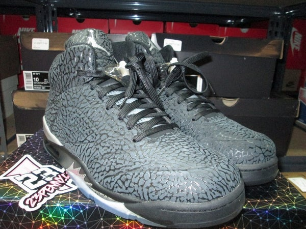 """Air Jordan V (5) Retro """"3Lab5: Blk/Metallic Silver"""" *PRE-OWNED* - SIZE13ONLY by 23PENNY"""