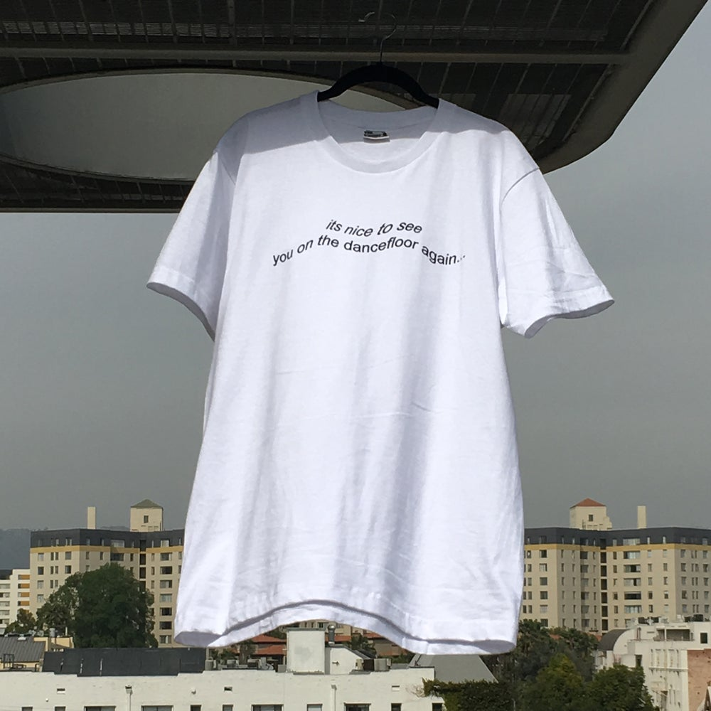 "Image of the ""dancefloor"" shirt (white)"