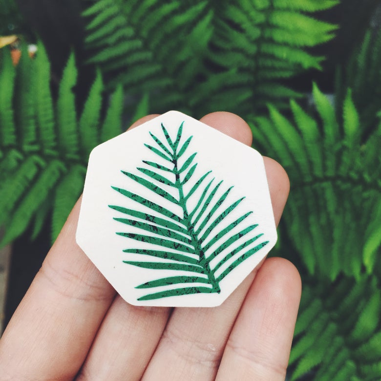 Image of PALM HEX BROOCH
