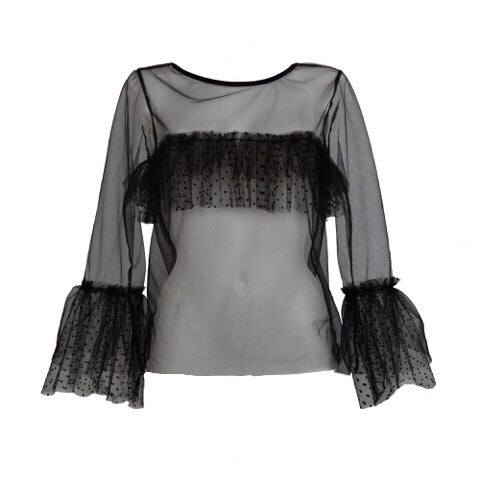 Image of SAMPLE SAMLE Tulle frill top