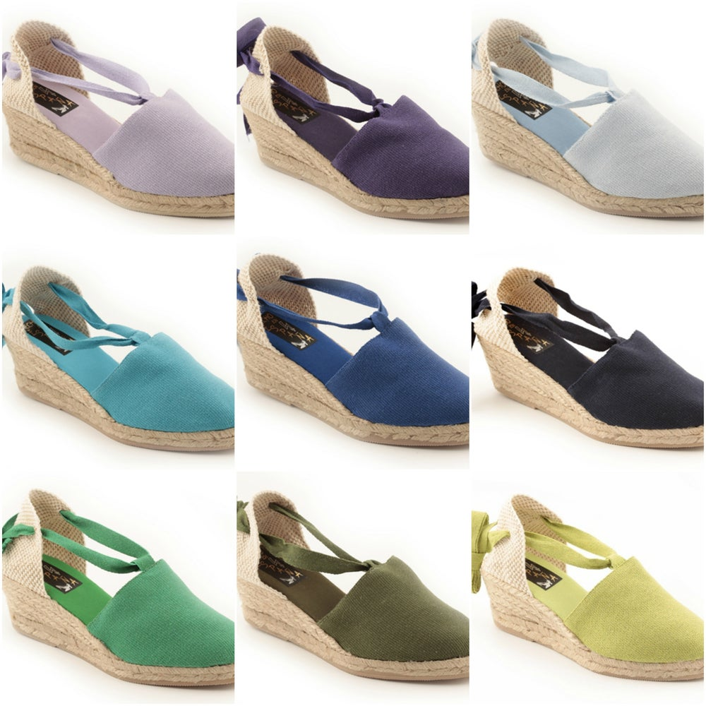 Image of 6 cm Valencian espadrilles - 25 colors