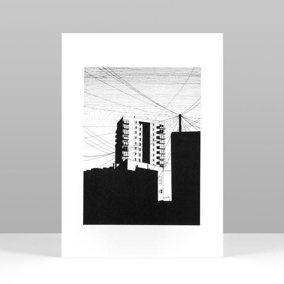 Image of Tower riso print