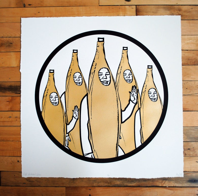 Image of Gang Screen Print Gold