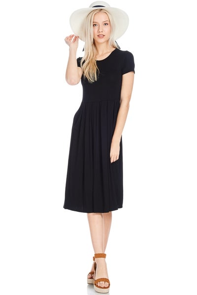 Image of Fit and Flared Pocket Dress | 2 colors