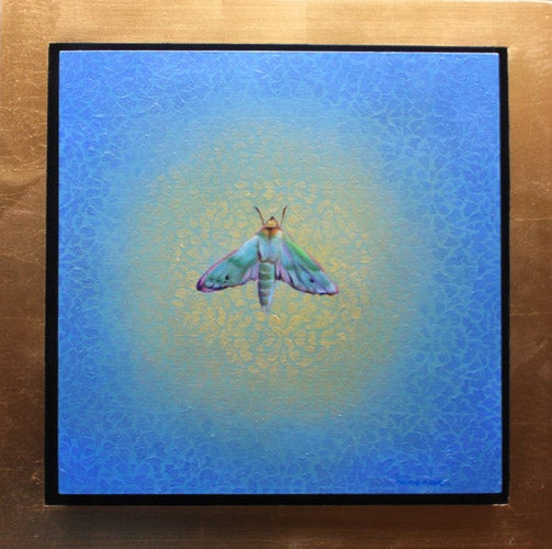 Image of Fabulous Green Sphinxmoth of Kaua`i (12 in x 12 in)