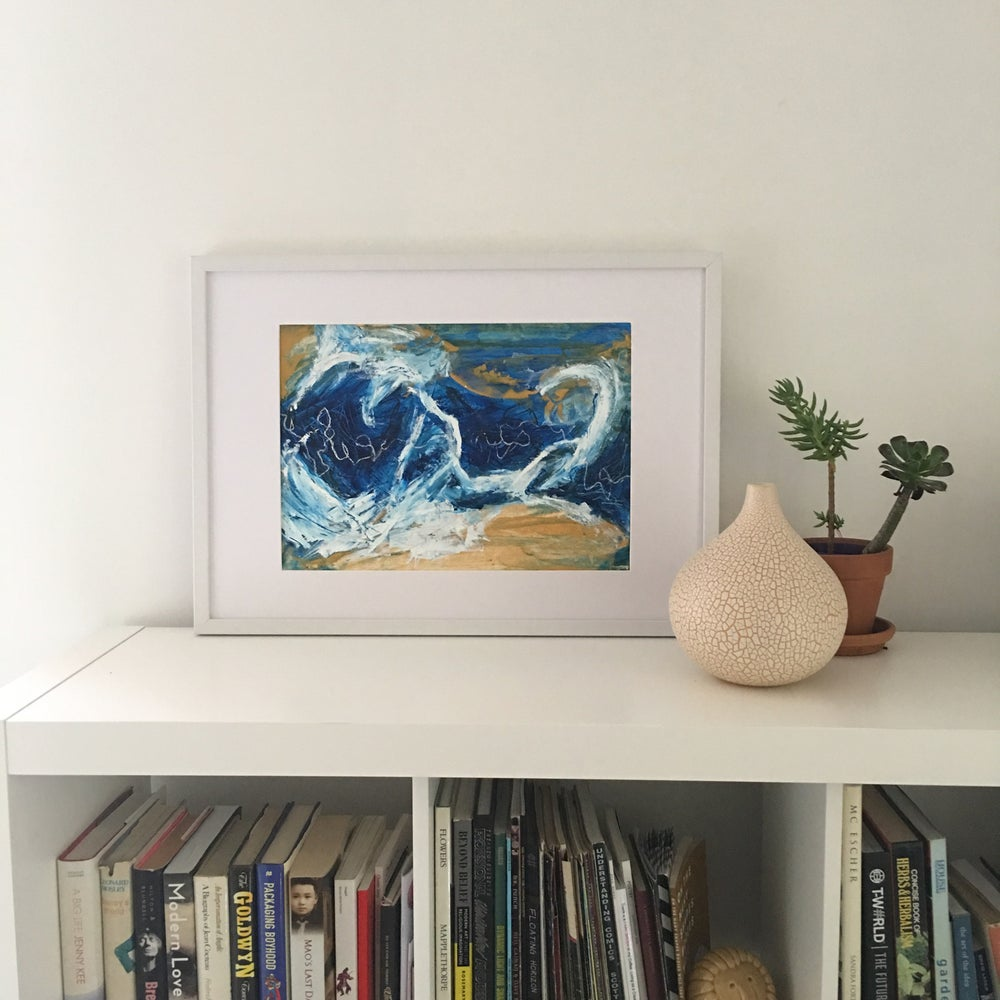 Image of Azure for Days - 30 x 42cm