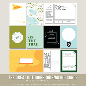 Image of The Great Outdoors Journaling Cards (Digital)
