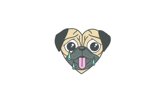 Image of GRIMM PUG - Hard Enamel Pin