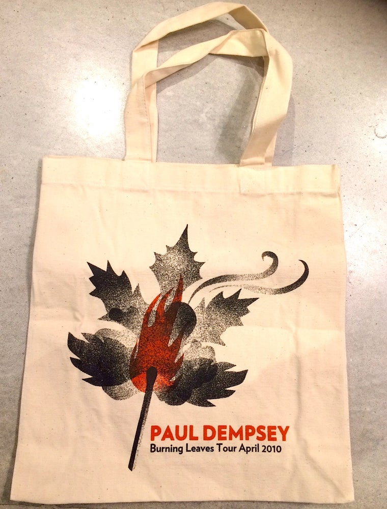 Image of Paul Dempsey - Burning Leaves 2010 Tour Tote bag
