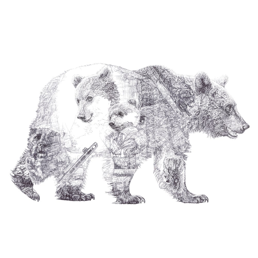 Image of MUMMY BEAR AND BABY BEAR LIMITED EDITION PRINT