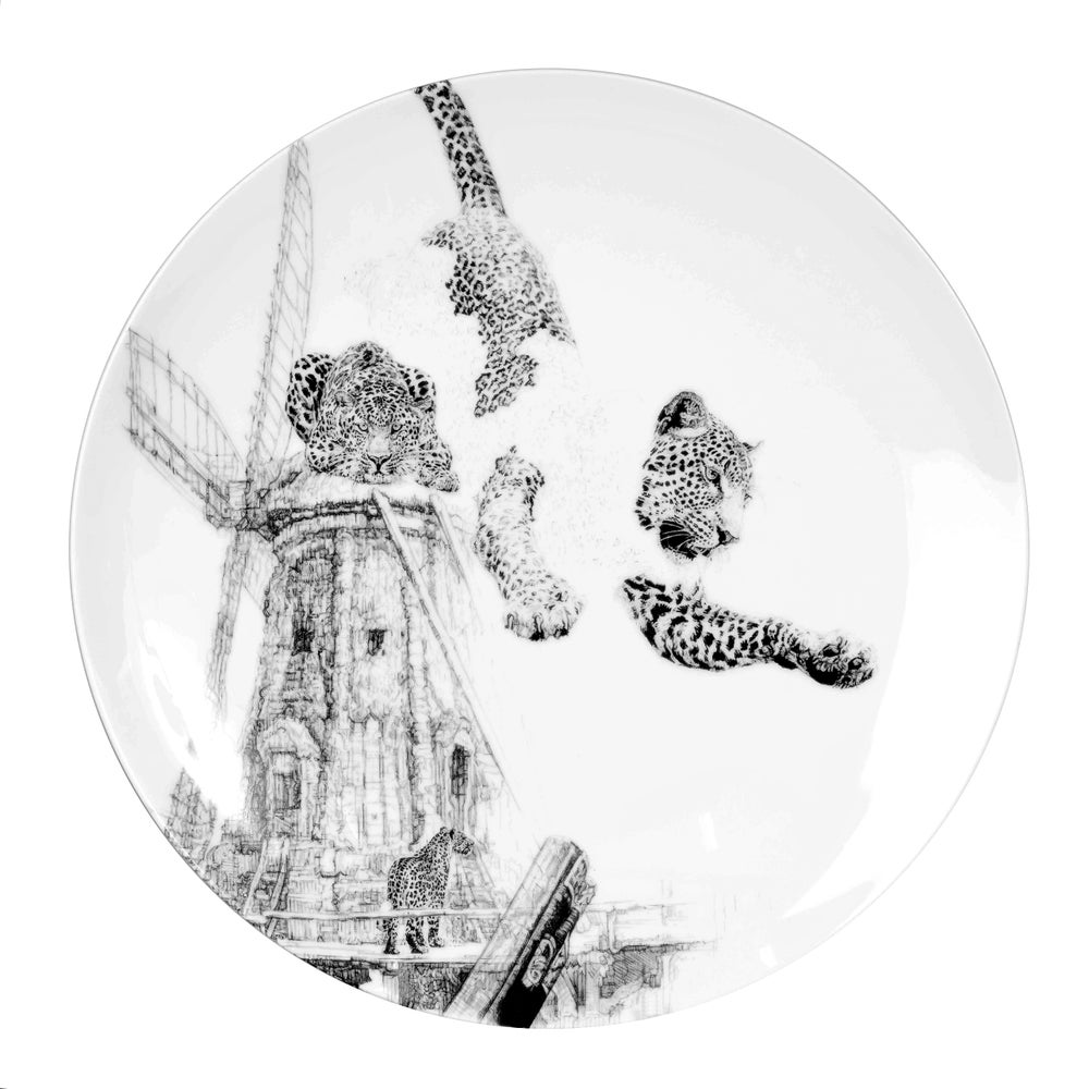 Image of OUR FOREFATHERS FINE ENGLISH BONE CHINA COUPE PLATE