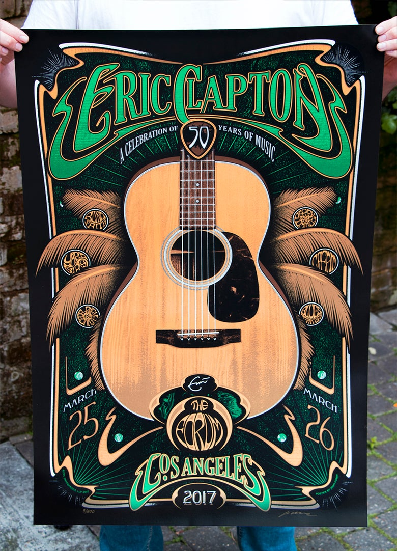 Image of LOS ANGELES Eric Clapton LA Forum March 25 & 26 - POSTPONED DATES
