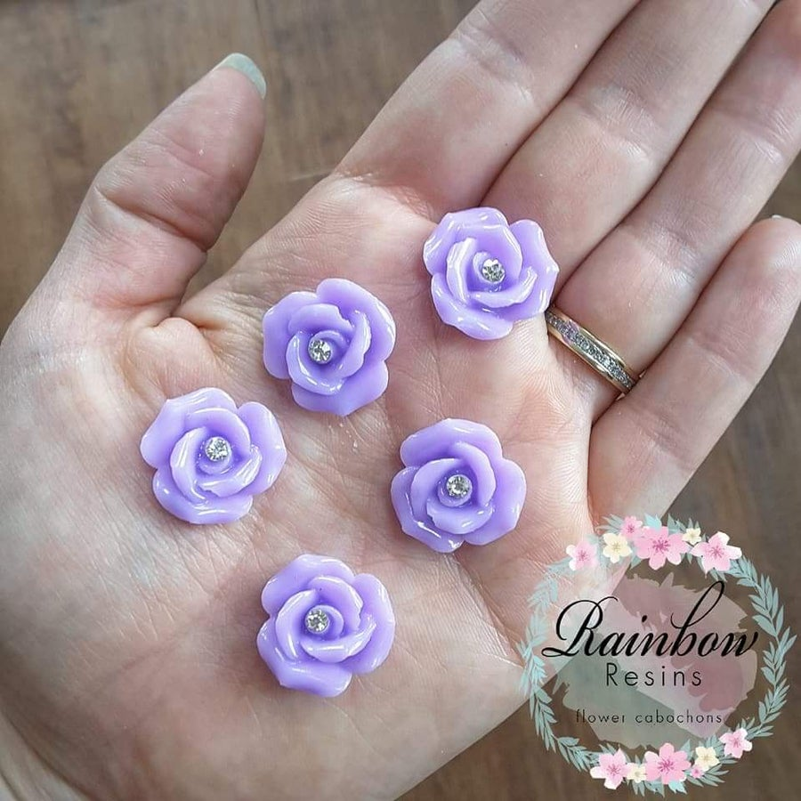 Image of Lilac diamante roses x 10