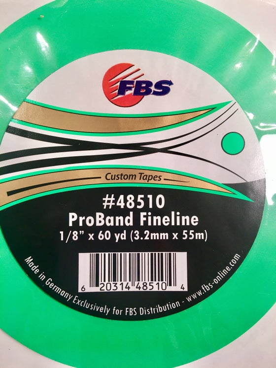 Image of FBS TAPE - GREEN FINELINE 1/8