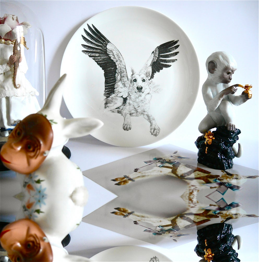 Image of SWEET LIMITED EDITION FINE ENGLISH BONE CHINA COUPE PLATE