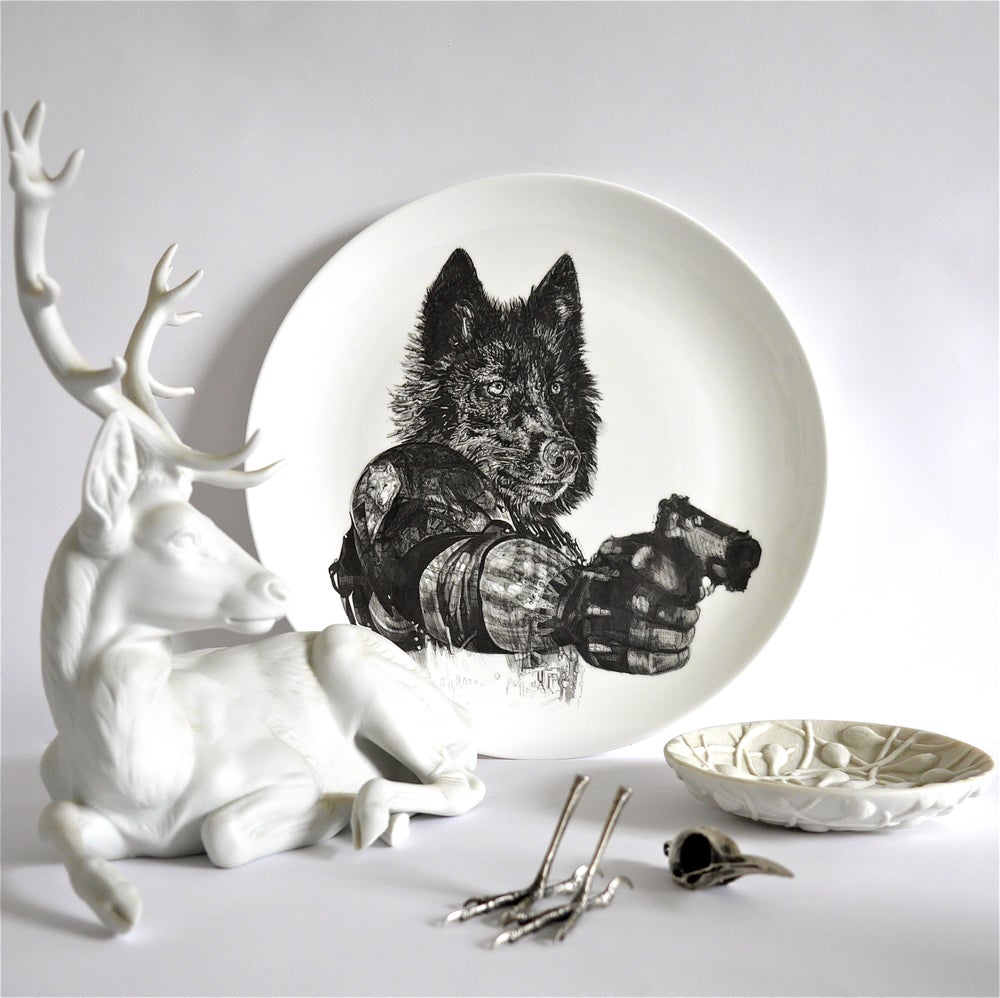 Image of REVENGE LIMITED EDITION FINE ENGLISH CHINA COUPE PLATE