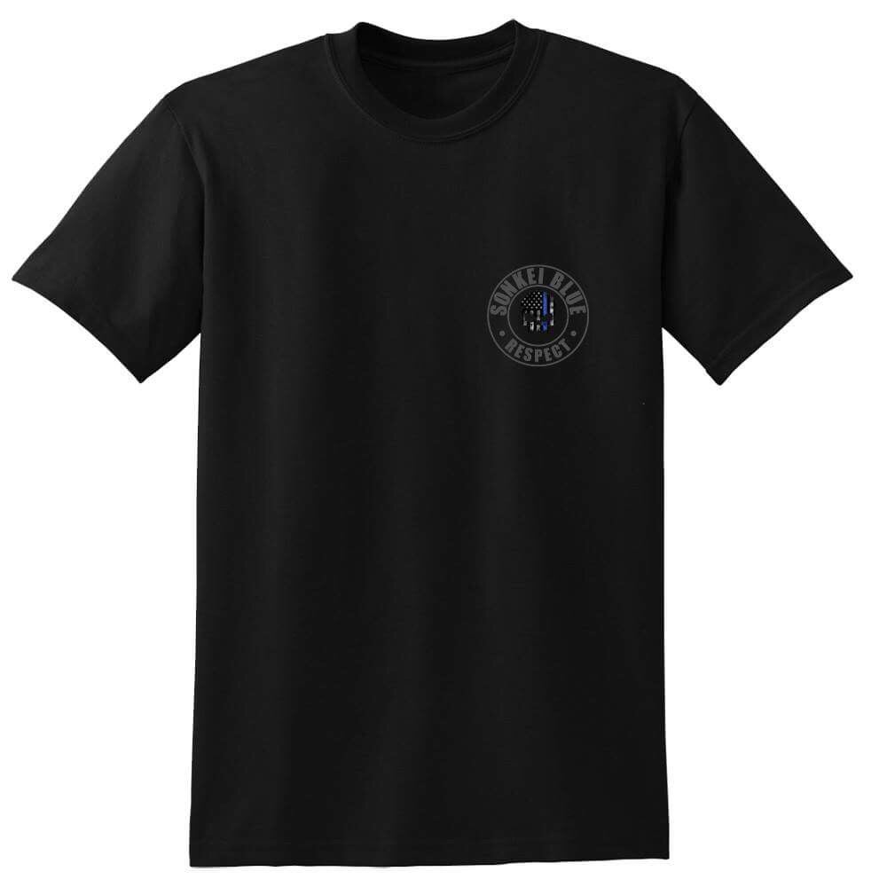 Image of Sonkei Blue Thin Blue Line Logo Shirt