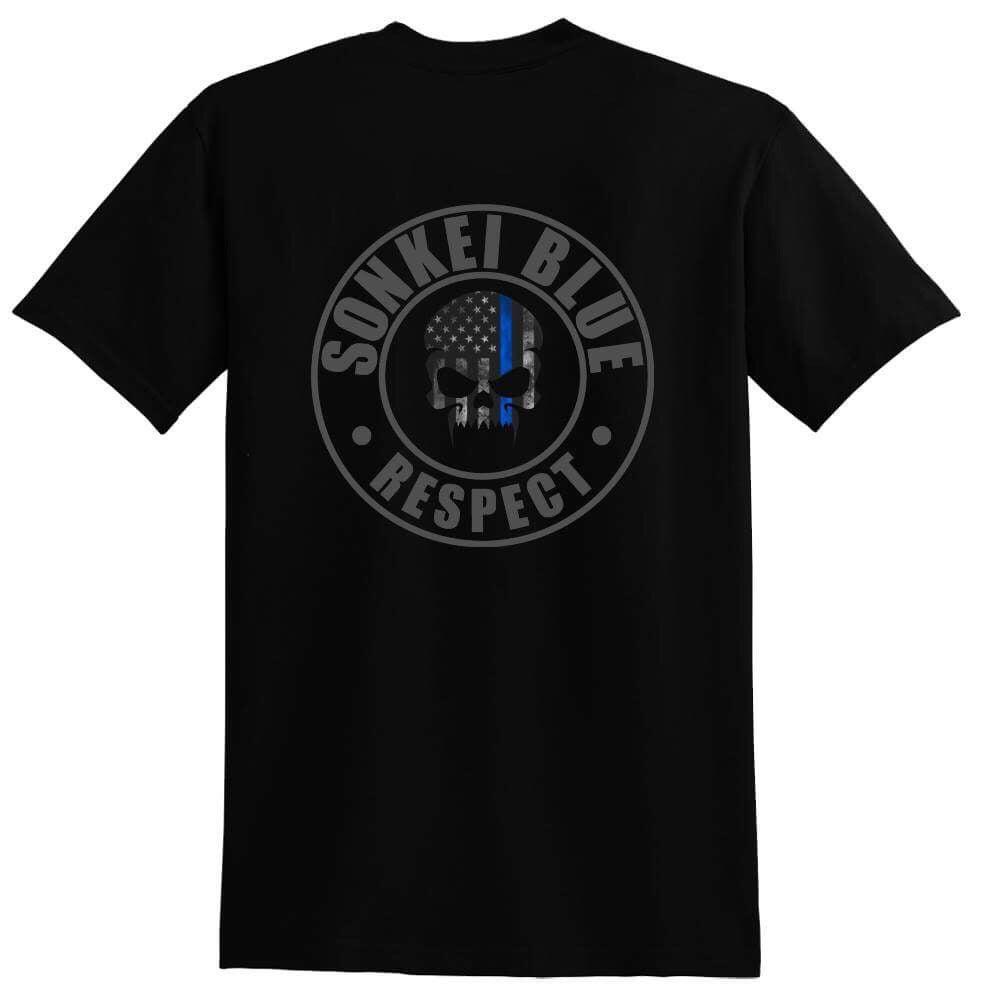 Image of Sonkei Blue Thin Blue Line Logo Shirt