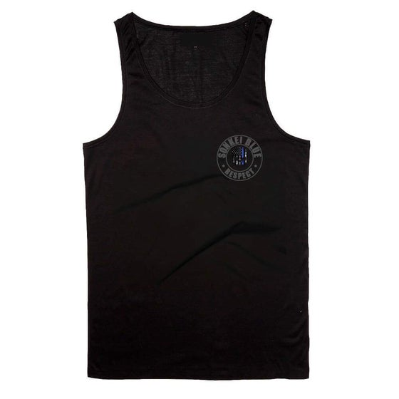 Image of Black Sonkei Blue Thin Blue Line Tank Top