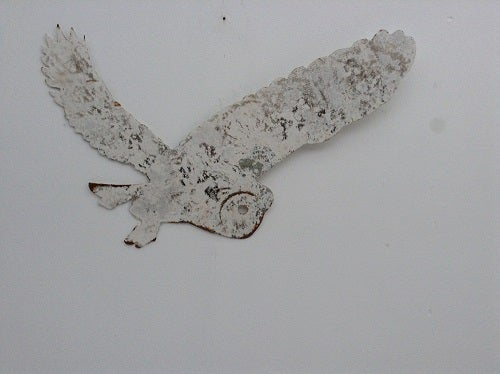 Image of Hand Forged Owl Wall Art