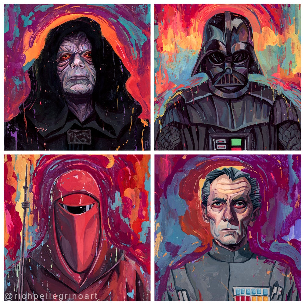 Image of The Darkside Group Print