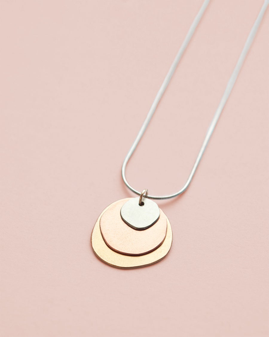 Image of Natural Layered Metals Necklace - Small