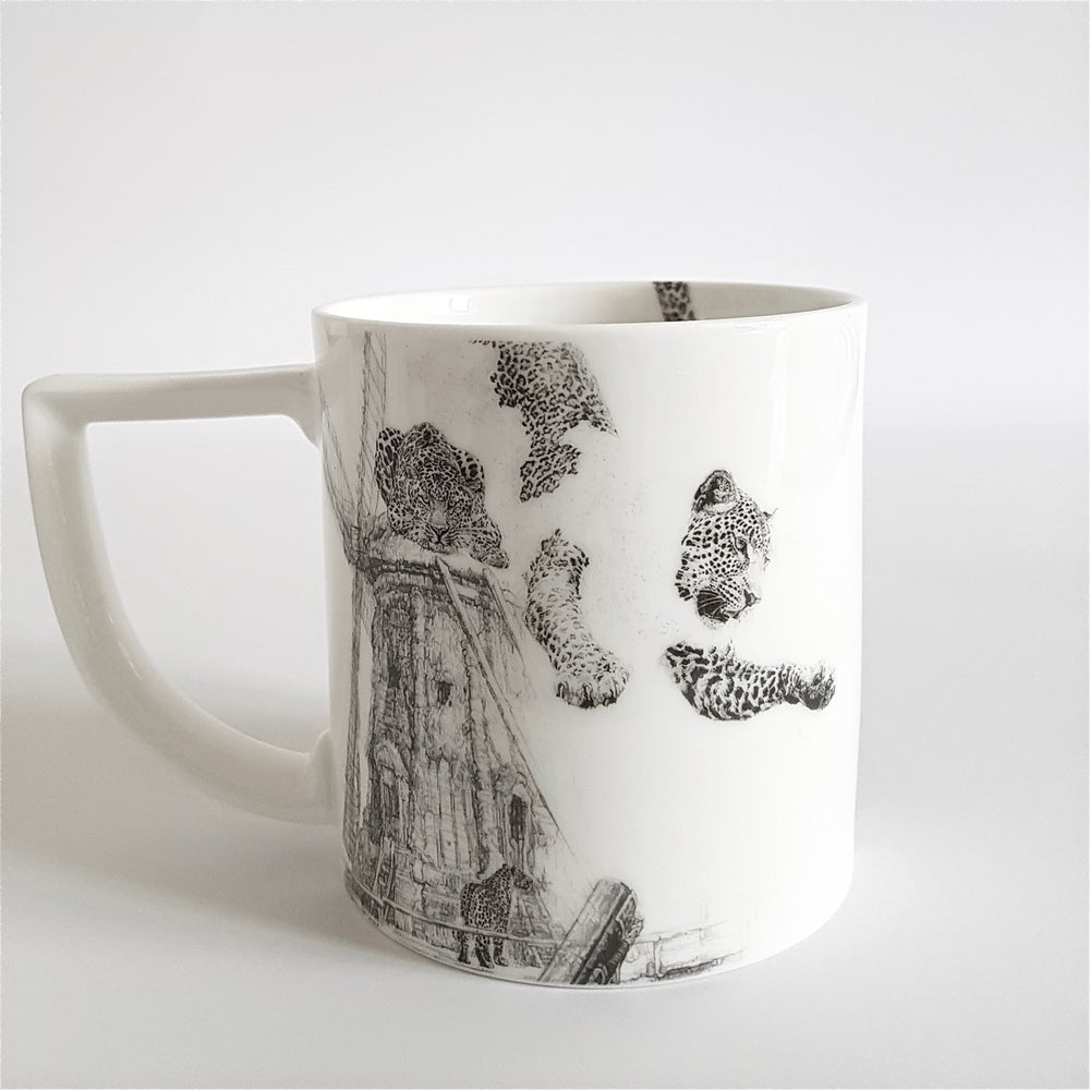 Image of OUR FOREFATHERS, OUR LOSS FINE ENGLISH BONE CHINA MUG