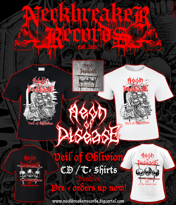 Image of Aeon of Disease - Veil of Oblivion Bundle I CD + Shirt White   Preorder