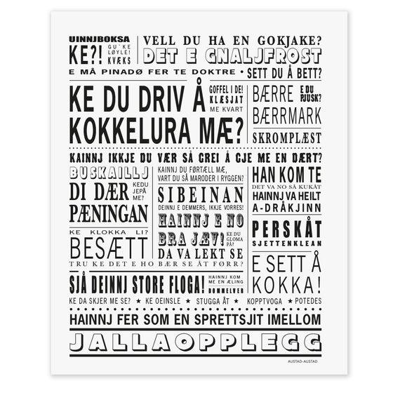 """Image of Helgeland postkort """"Ke du driv å kokkelura mæ?"""""""