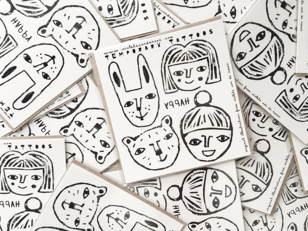 Image of TEMPORARY TATTOOS | HAPPY