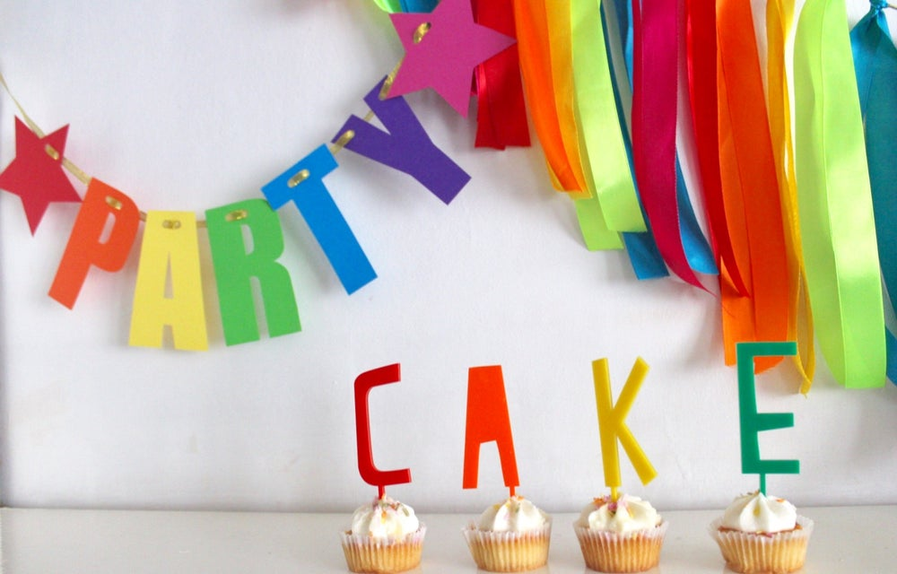 Image of Acrylic cake & cupcake toppers