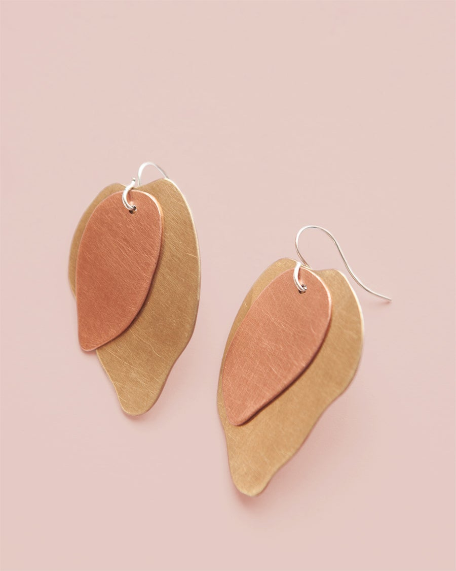 Image of Natural Layered Metals Earrings